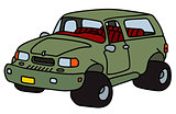 Funny terrain car