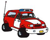 Funny fire patrol car