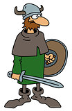 Funny old viking warrior