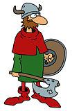 Funny old viking warrior