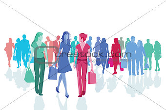 Groups of People shopping