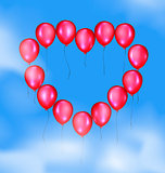 sky and balloons heart