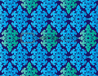Antique ottoman turkish pattern vector design fourty two