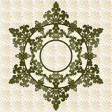 Antique ottoman turkish pattern vector design fourty