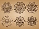 Flower Round Pattern