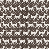 Seamless Vector Pattern with Pretty Walking Italian Greyhounds