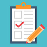 Checklist with tick and pencil icon