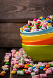 Mix of candies in a bowls