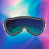 Ski Goggle. Colorful Glasses
