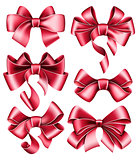 Six red bows