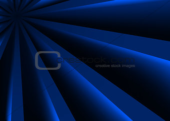 Blue 3D Stripes Background