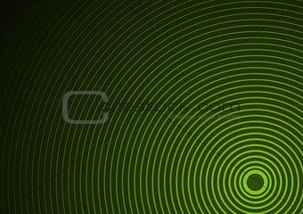 Green Circular Background
