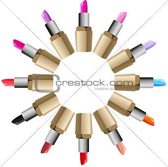 Lipstick round palette set