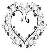 frame, flourishes heart