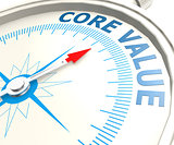 Compass with core value word