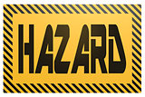 Banner with hazard word