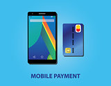 mobile payment with smartphone and credit card