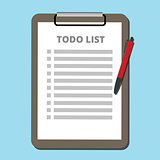 to do list concept tasklist with clipboard vector