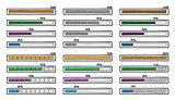 Mega set of hand-drawn vector doodle progress bar