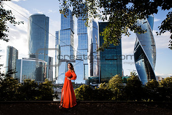 beautiful girl from Moscow city summer