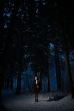 girl alone in the woods
