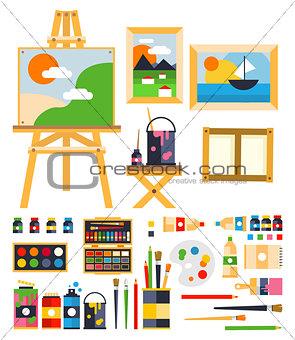 Painting Set. Vector Illustration