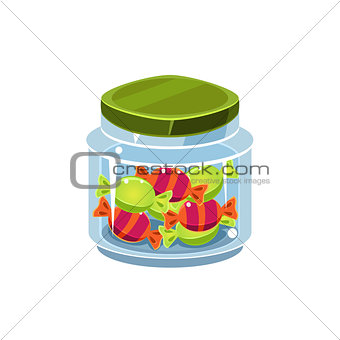 Candy In Transparent Jar