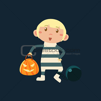 Boy In Convict Irons  Haloween Disguise