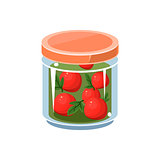 Wild Apples  In Transparent Jar