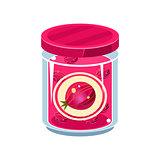Gooseberry Jam  In Transparent Jar