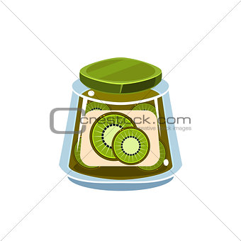 Kiwi Jam  In Transparent Jar