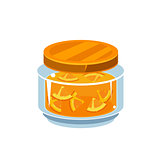 Orange Jam  In Transparent Jar