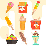 Ice Cream Vector Illustrations