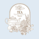 Tea, Vector Illustration Banner