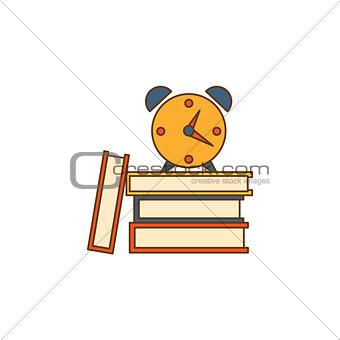 Alarm Clock On Books