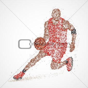 abstract, basketball, athlete