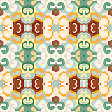 Abstract seamless vector pattern in retro style