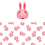 Rabbit Head Icon And Pattern