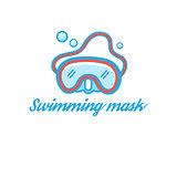 Symbol scuba mask