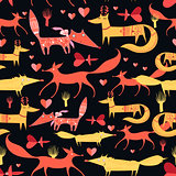 pattern of foxes