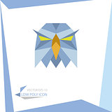 low poly animal icon. vector eagle