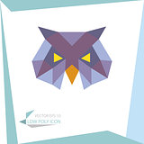 low poly animal icon. vector owl