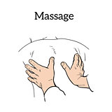 Therapeutic manual massage. Medical therapy