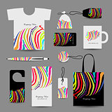 Corporate business cards, colorful zebra print design