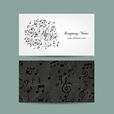Business card with music design