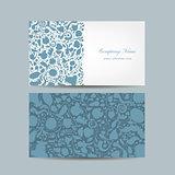 Business card, floral design