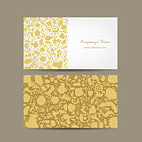 Business card, floral design