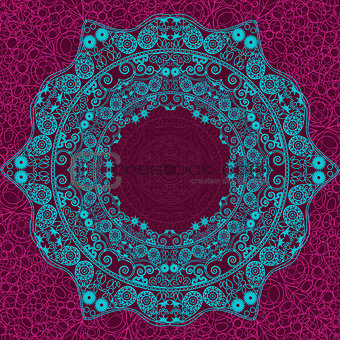 Abstract Indian Blue Element
