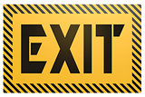 Banner with exit word