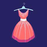 illustration of fashionable dress